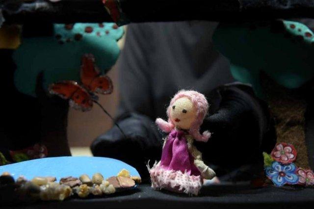 borboleta, montagem do 2º encontro de teatro de bonecos.