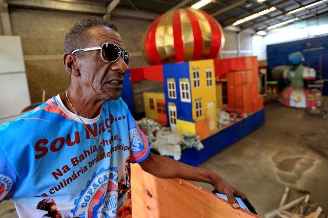 PORTO ALEGRE, RS, BRASIL, 09/01/2019- Escolas de Carnaval pronto desde 2016. Na foto- Gilson Lucena _ carnavalesco. (FOTOGRAFO: JÚLIO CORDEIRO / AGENCIA RBS)