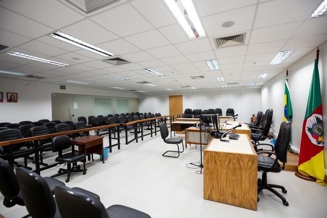 PORTO ALEGRE, RS, BRASIL, 08/01/2019- Tribunal do Júri. (FOTOGRAFO: OMAR FREITAS / AGENCIA RBS)