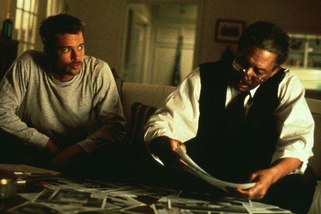 Seven - Os sete crimes capitais, com o ator Brad Pitt #PÁGINA:14 Fonte: Divulgação Fotógrafo: New Line Cinema