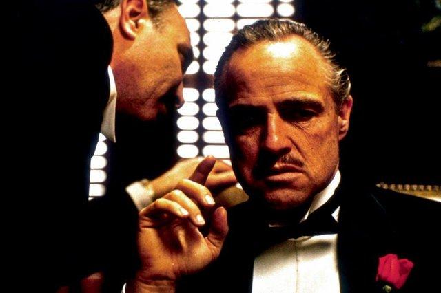 Marlos Brando no primeiro O Poderoso Chefão, de Coppola
