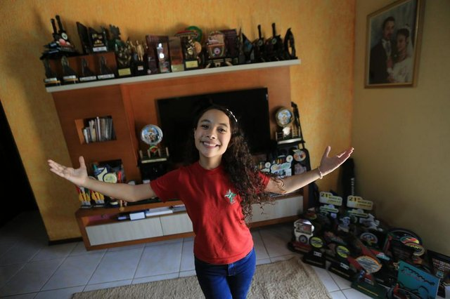 SAPIRANGA,  RS, BRASIL, 02/04/2019- The Voice Kids- Entrevista com a gaúcha Luiza Barbosa, única representante do RS no programa.(FOTOGRAFO: JÚLIO CORDEIRO / AGENCIA RBS)
