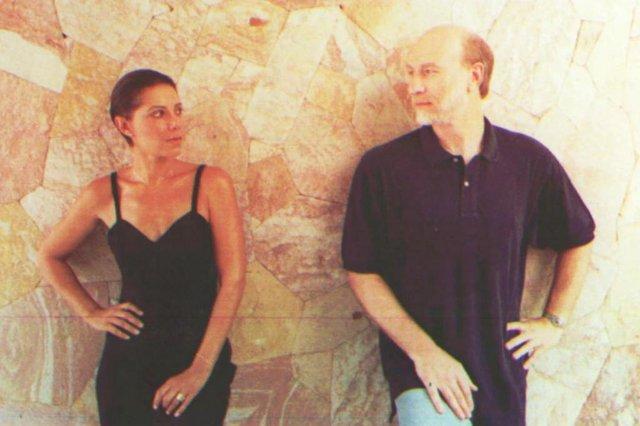 Personagens Rafael (Odilon Wagner) e Virgínia (Ângela Vieira), novela Por Amor, Rede Globo.
