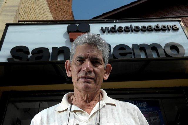 CAXIAS DO SUL, RS, BRASIL, 03/04/2019Videolocadoras em Caxias para o Almanaque. Videolocadora San Remo do sr. Nery Rodrigues de Atayde