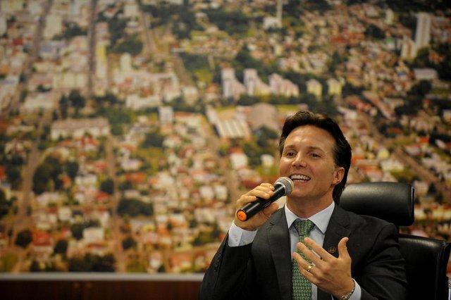 CAXIAS DO SUL, RS, BRASIL, 14/03/2019Coletiva de dois anos como prefeito de Caxias do Sul de Daniel Guerra. Prefeito Daniel Guerra(Lucas Amorelli/ Agência RBS)