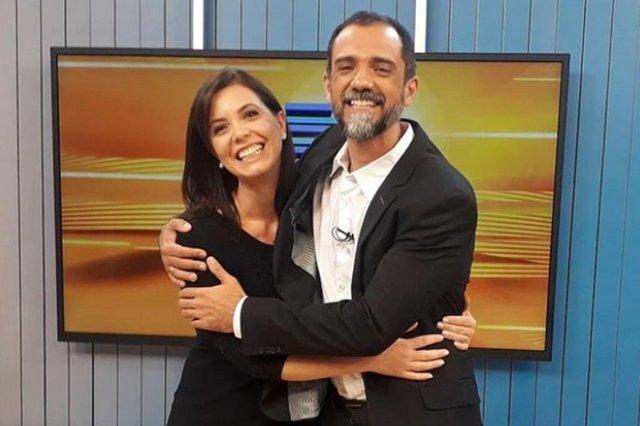 Simone Lazzari e Josmar Leite no Bom Dia Rio Grande.