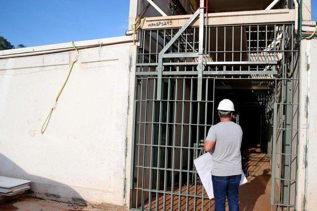 SAPUCAIA DO SUL- RS- BRASIL- 28/06/2019- Obras da Penitenciária Estadual de Sapucaia do Sul. Capacidade para 600 internos. FOTO FERNANDO GOMES/ ZERO HORA.Indexador: Fernando Gomes