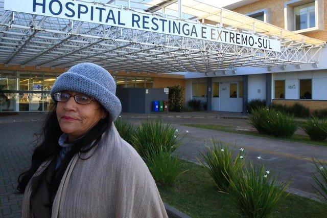 PORTO ALEGRE - RS - BR - 05.07.2019Hospital da Restinga.Rosemar Rodrigues Gomes, 51 anos.FOTÓGRAFO: TADEU VILANI AGÊNCIA RBS