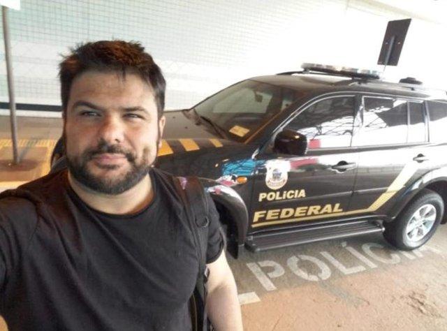 Falso policial federal. Preso pela PF. Daniel Lopes da Silveira, 38 anos,