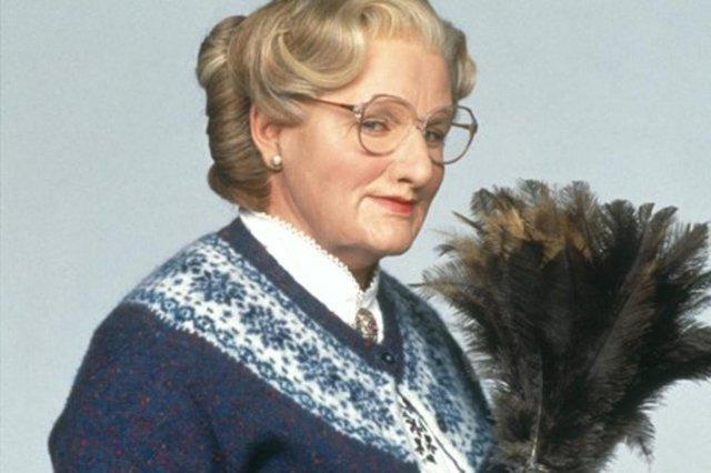 Cena do filme Uma Babá Quase Perfeita (Mrs. Doubtfire), de  Chris Columbus. Com Robin Williams. Comédia, EUA, 1993, 125min.