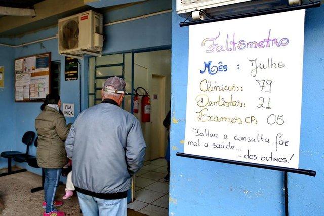 ESTEIO,  RS, BRASIL, 13/08/2019- Faltômetro: iniciativa que surgiu na UBS Novo Esteio, a partir da ideia dos próprios servidores, para conscientizar os usuários sobre a importância comparecer às consultas médicas, e que, aos poucos, está sendo implementada nas outras unidades da rede de saúde municipal. (FOTOGRAFO: FERNANDO GOMES / AGENCIA RBS)