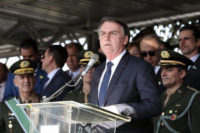 Data: 03/07/2019São PauloPalavras do Presidente da República, Jair Bolsonaro, em solenidade de Passagem do Comando Militar do Sudeste.Foto: Marcos Corrêa/PR