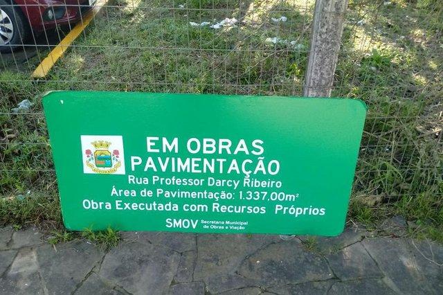 Seu Problema é Nosso , Rua Professor Darcy Ribeiro , IFRS , Campus Alvorada , pavimentação , promessa , prefeitura, barro