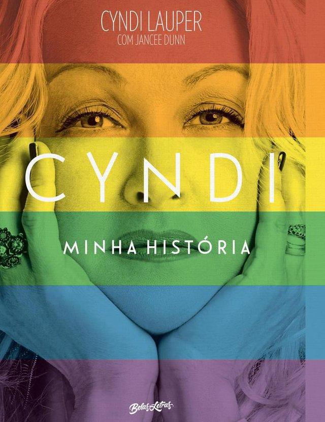 Capa do livro Cindy - minha história, biografia da cantora traduzida pela editora Belas Letras.