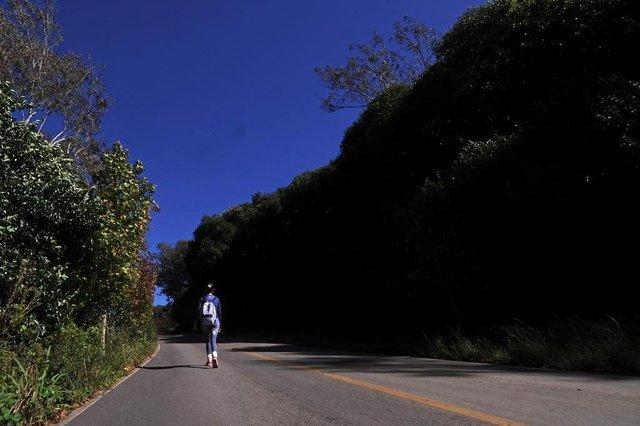 FARROUPILHA. RS, BRASIL, 20/05/2019 - Percorremos os 10,7 quilômetros do caminho de Caravaggio com a psicóloga Relin Hahn que falou sobre espiritualidade. (Marcelo Casagrande/Agência RBS)