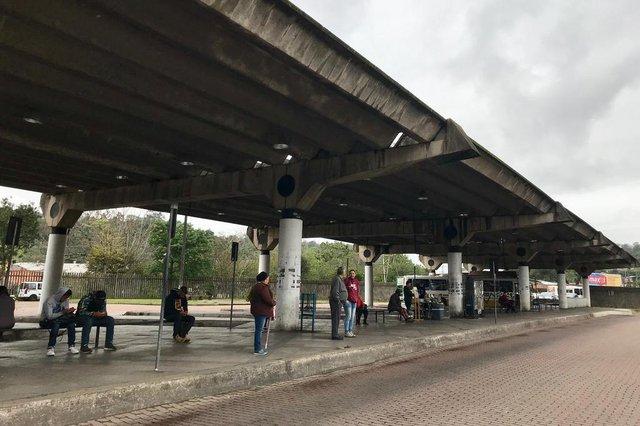 raio x dos terminais de ônibus de porto alegre , transporte público , terminal de ônibus , porto alegre. Na foto: Terminal Antônio Carvalho , na zona leste de Porto Alegre