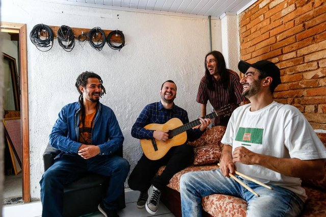 PORTO ALEGRE, RS, BRASIL - 19/09/2019Banda de reggae Positive para o Estrelas da Periferia