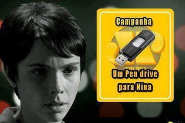 Campanha na internet sugere que Nina compre um pen drive
