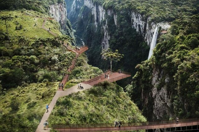 Proposta prevê passarelas sobre cânion Itaimbezinho em Cambará do Sul
