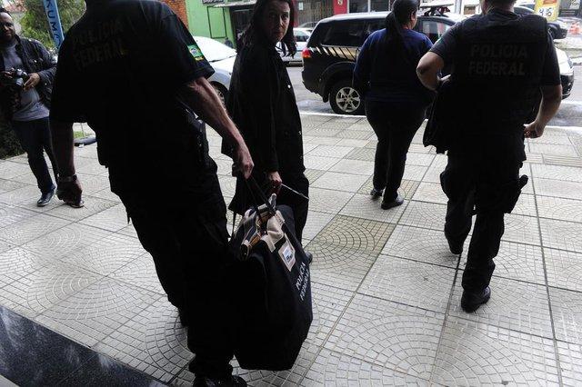 SÃO LEOPOLDO, RS, BRASIL, 17/10/2019- Operação Lamain realizada pela Polícia Federal, na manhã desta quinta-feira em unidades da empresa Unick. (FOTOGRAFO: RONALDO BERNARDI / AGENCIA RBS)