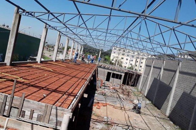 Quadra União da Vila do IAPI. O local está em reforma desde junho de 2019 e deverá ficar pronto em dezembro de 2019.