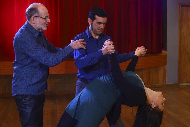 PORTO ALEGRE, RS, BRASIL, 17/10/2019: Giane Guerra e Jocimar Farina fazem aula de dança de salão.Indexador: ISADORA NEUMANN