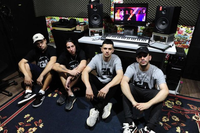 PORTO ALEGRE,RS,BRASIL.2019,11,02.Estrelas da Periferia,Grupo de Rap Ban For Kindz.(RONALDO BERNADI/AGENCIA RBS).