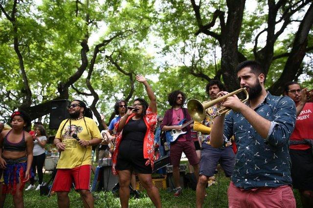 PORTO ALEGRE, RS, BRASIL, 24/11/2019- Ensaio aberto da Bloco da Laje. (FOTOGRAFO: JEFFERSON BOTEGA / AGENCIA RBS)