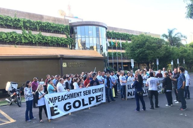 Ato de apoio ao prefeito daniel Guerra