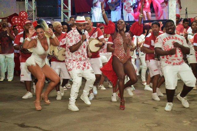 Imperadores do Samba, ensaio da escola