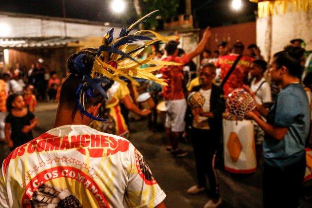 PORTO ALEGRE, RS, BRASIL - 04/03/2020Último ensaio da tribo Os Comanches, a última tribo carnavalesca ainda em atividade na Capital, antes do desfile de Carnaval.