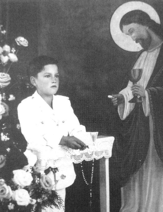 Valmor Aver na primeira comunhão em 1955.<!-- NICAID(14471373) -->