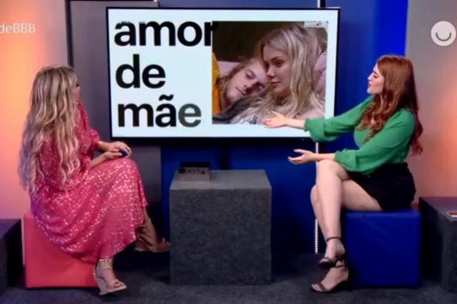 Marcela e o meme Amor de Mãe em entrevista à Ana Clara no Rede BBB<!-- NICAID(14471905) -->