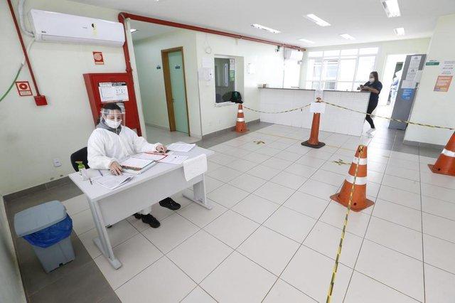 CACHOEIRINHA, BRASIL- Hospital de Campanha montado em ginásio esportivo de Cachoririnha. UPA CENTRO DE TRIAGEM LONGE DO HOSPITAL DE CAMPANHA (FOTOS: LAURO ALVES/AGENCIARBS)