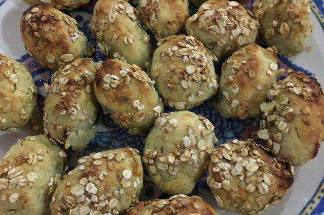 Receita de bolinho de batata-doce recheado da nutricionista Mônica Broilo.