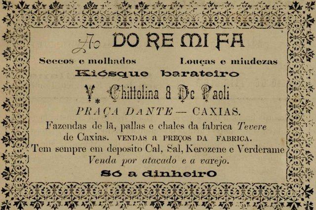 Anúncio do Quiosque Barateiro de Vittorio Chittolina publicado no jornal O Cosmopolita em 1902 <!-- NICAID(14509094) -->