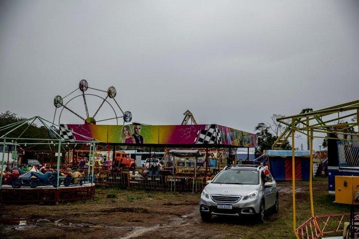 Chegada ao circo na Zona Sul