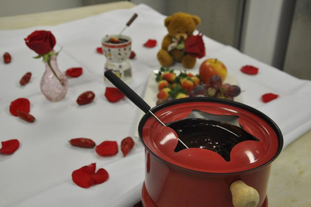Fondue de chocolate com pimenta