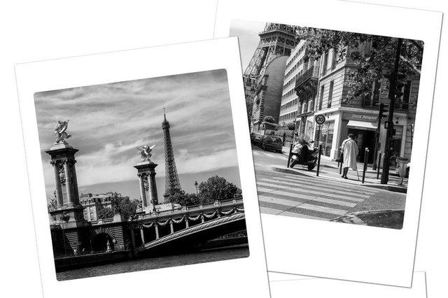 Fotos da exposição Polaróides de Paris, do fotógrafo Nilton Santolin