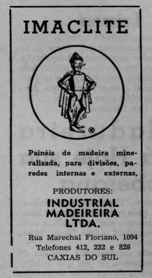 Imaclite, produto da antiga madeireira Caxiense nos anos 1960 e 1970. Era uma espécie de revestimento para evitar umidade.<!-- NICAID(12027613) -->