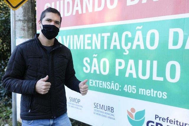 Gravataí,  RS, BRASIL, 15/06/2020- Rua São Paulo, em Gravataí, é asfaltada depois de 20 anos. Foto: Ronaldo Bernardi / Agencia RBS<!-- NICAID(14522316) -->
