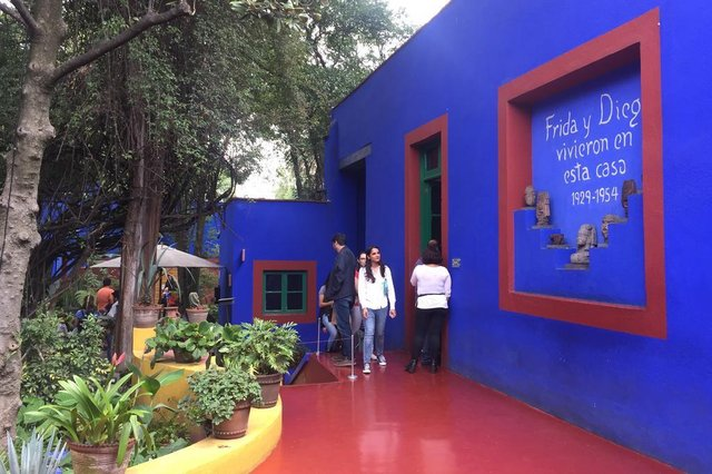 Casa Azul - Museu Frida Kahlo. Fotos de outubro de 2019.<!-- NICAID(14534578) -->