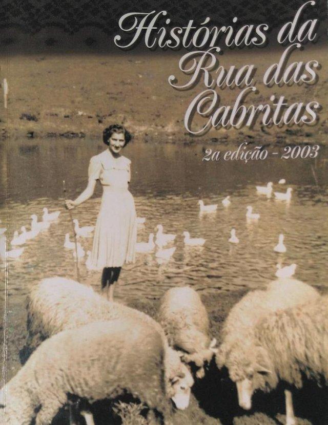 A jovem Lourena Segalla na capa do livro Histórias da Rua das Cabritas, de 2003<!-- NICAID(14538867) -->