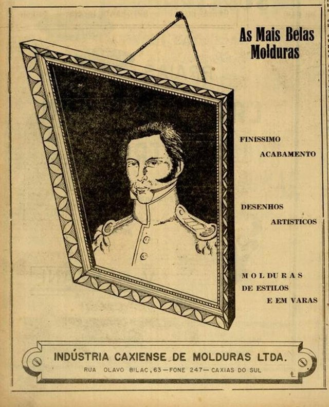 anúncios da Indústria Caxiense de Molduras nos anos 1950 e 1960<!-- NICAID(14559339) -->
