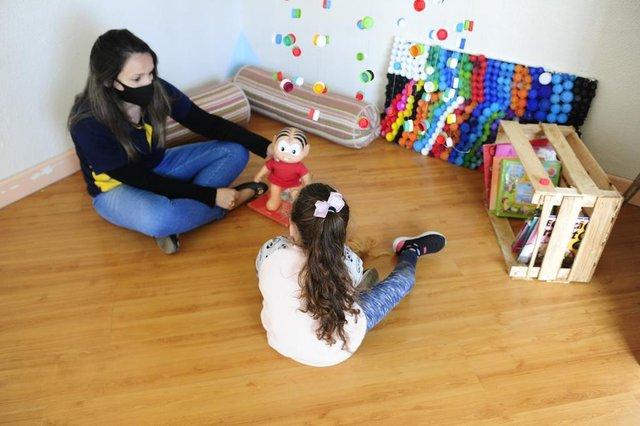 PORTO ALEGRE, RS, BRASIL, 28/09/2020- VOLTA ÀS AULAS - Educação infantil. Loca das imagens:  Escola Capela Navegantes. Foto: Ronaldo Bernardi  / Agencia RBS<!-- NICAID(14603323) -->