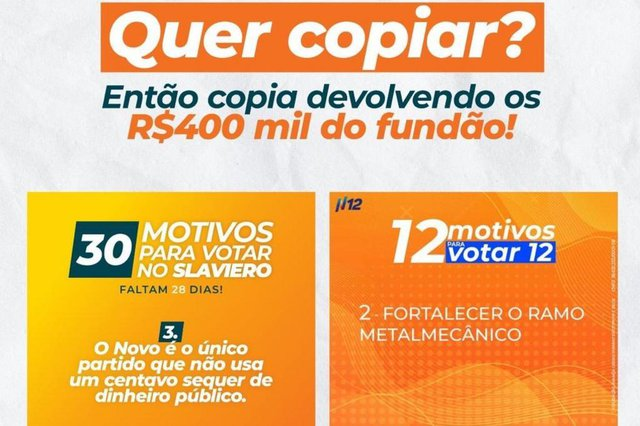 Candidato a prefeito Marcelo Slaviero (Novo) acusa candidato Edson Néspolo (PDT) de cópia<!-- NICAID(14620137) -->