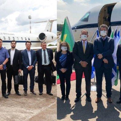 Comitiva brasileira sai sem máscara do país, mas usa proteção ao chegar em Israel