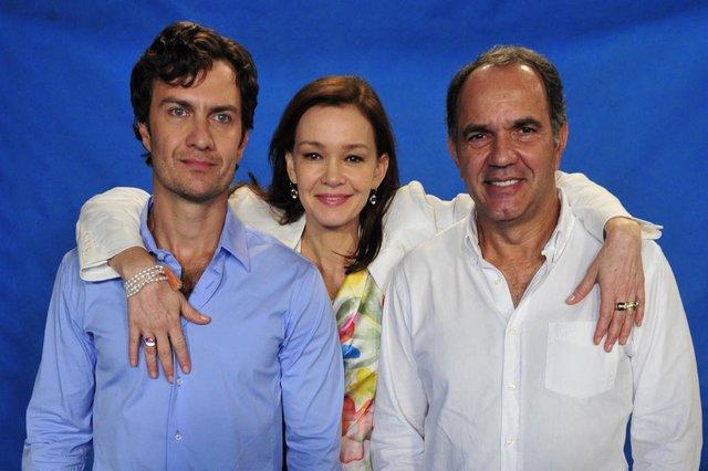 em família, Gabriel Braga Nunes, Julia Lemmertz e Humberto Martins<!-- NICAID(14896833) -->