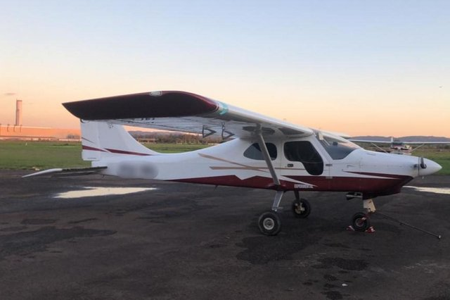 Avião usado por traficantes no transporte de drogas. Foto: Polícia Civil/ Divulgação<!-- NICAID(14890846) -->