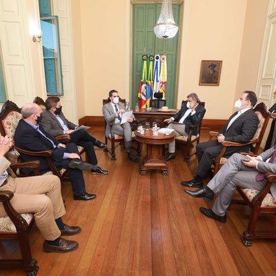 Reunião entre governador Eduardo Leite e prefeito da Capital Sebastião Melo
